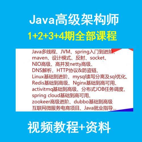 Java开发高级全栈架构师视频教程含主流框架zookeeper/Spring boot cloud
